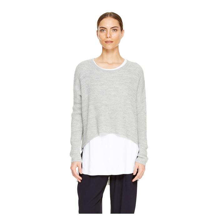 HTHRD DOVE DKNY DKNYPURE TRAPEZE PULLOVER