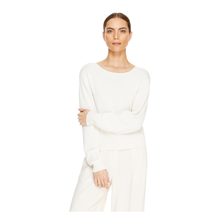 MUSLIN DKNY LONG SLEEVE PULLOVER SWEATER