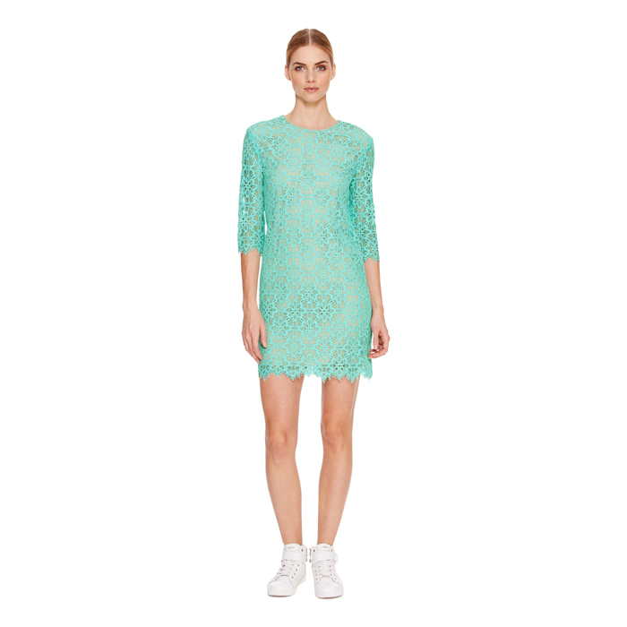 SUPER SONIC DKNY 3/4 SLEEVE LACE DRESS