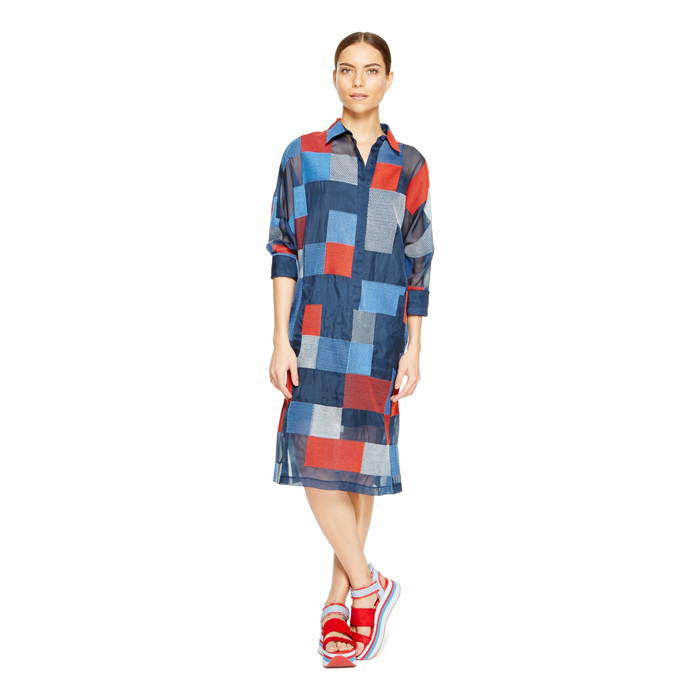 INK DKNY ORGANZA SHIRT DRESS