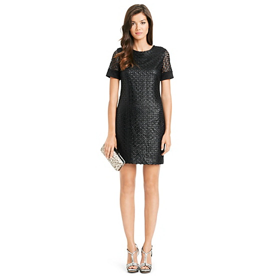 DVF New Cindy Lace Dress in black