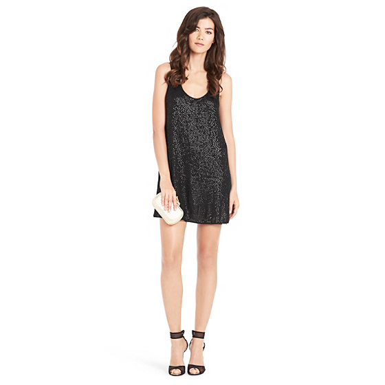 DVF Pellina Sequin Tank Dress in black
