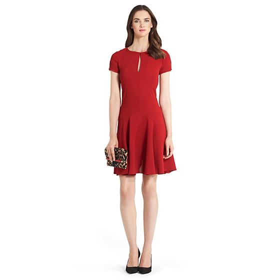DVF Raizel Fit and Flare Dress in vintage rose