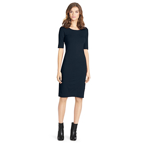DVF Meeson Knit Sheath Dress in navy