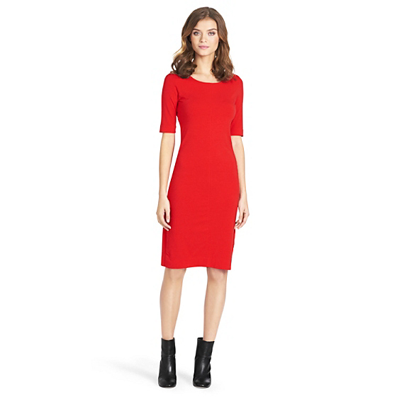 DVF Meeson Knit Sheath Dress in red