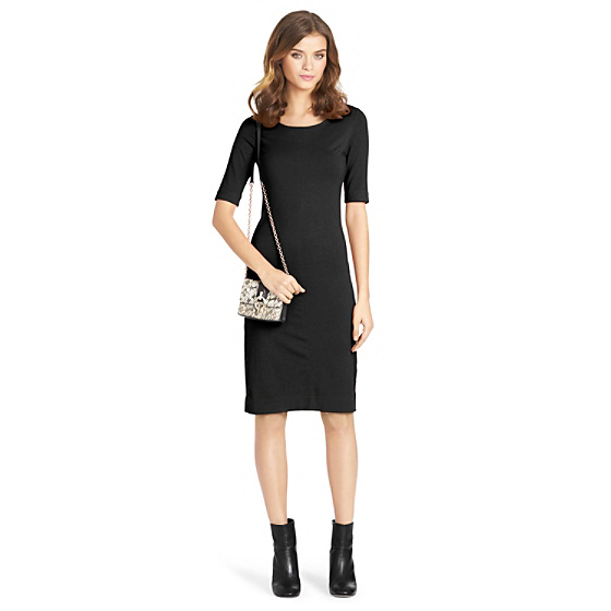 DVF Meeson Knit Sheath Dress in black