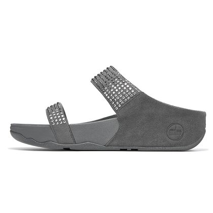 FITFLOP FLARE SLIDE PEWTER