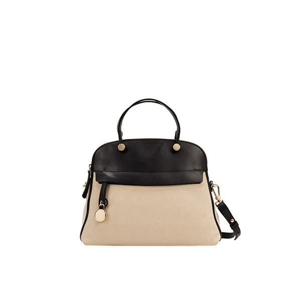 FURLA PERLA TOP HANDLE NATURALE