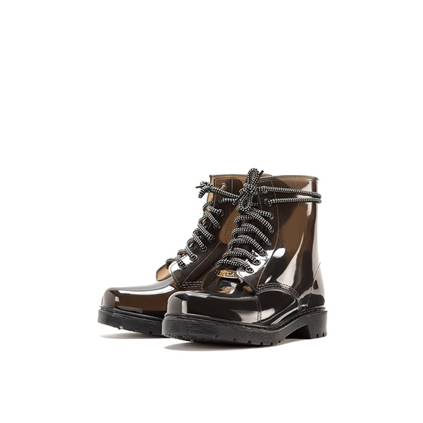 FURLA NEW GIO' LACE-UP ANKLE BOOTS ONYX