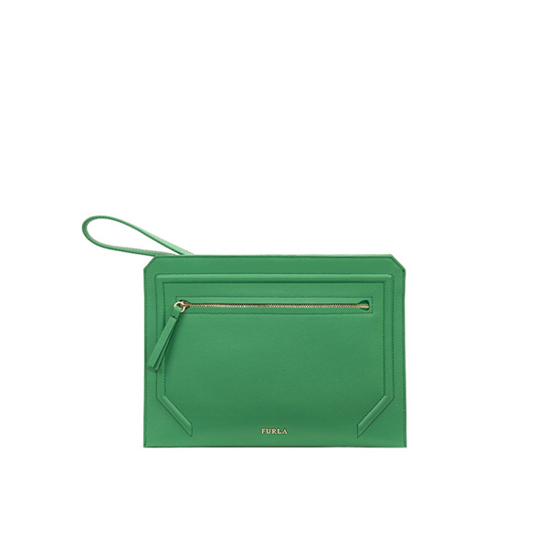 FURLA ALICE CLUTCH EMERALD