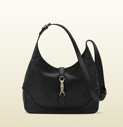 Gucci jackie black leather shoulder bag