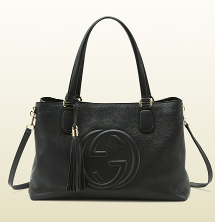 Gucci soho black leather working tote