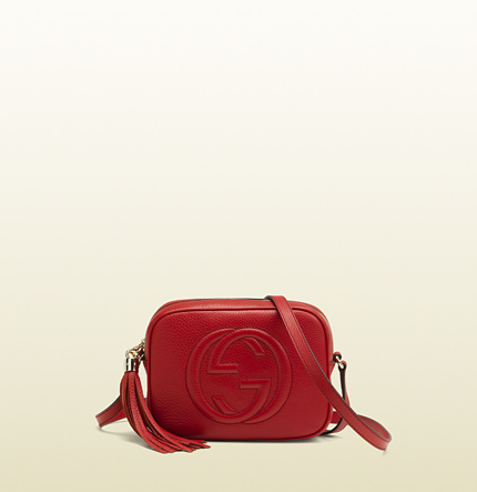 Gucci soho red leather disco bag
