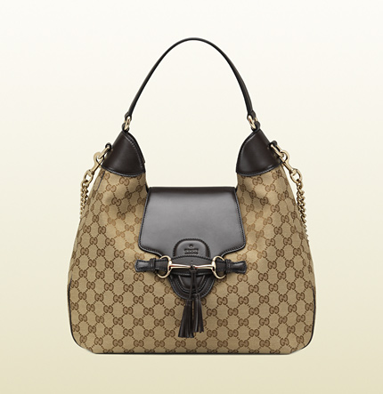 Gucci emily original GG canvas hobo