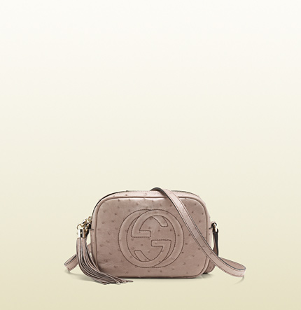 Gucci soho light pink ostrich disco bag