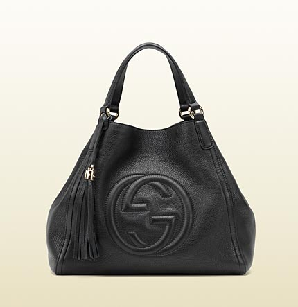 Gucci soho black leather shoulder bag