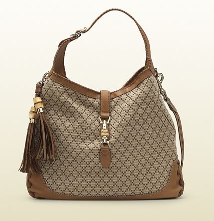 Gucci new jackie diamante straw shoulder bag