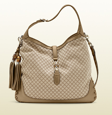 Gucci new jackie diamante canvas shoulder bag