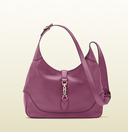 Gucci jackie freesia rose color leather shoulder bag
