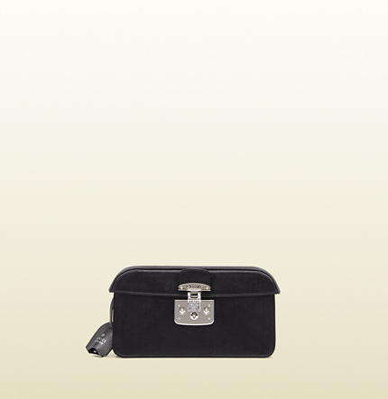 Gucci lady lock satin clutch