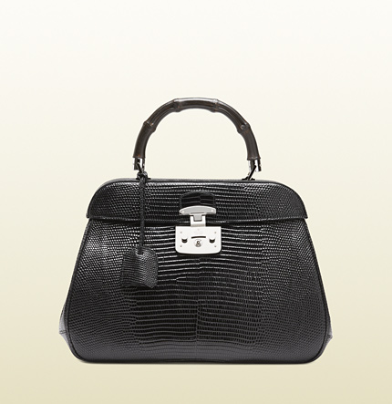 Gucci lady lock lizard top handle bag