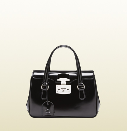 Gucci lady lock leather top handle bag
