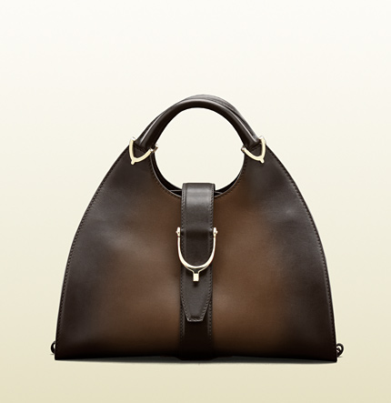 Gucci stirrup leather top handle bag, special edition