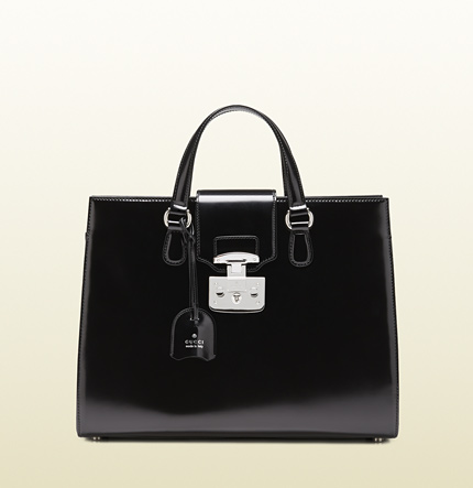 Gucci lady lock leather tote