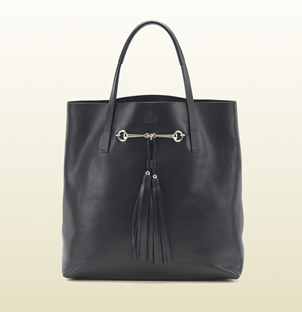 Gucci park avenue leather horsebit tote