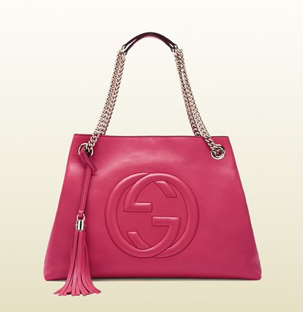 Gucci soho shocking pink leather shoulder bag