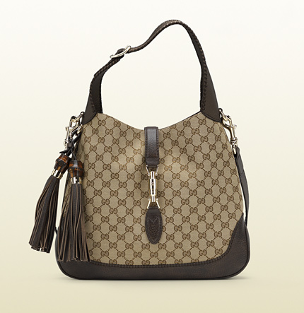 Gucci new jackie original GG canvas shoulder bag