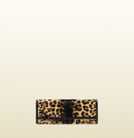 Gucci broadway jaguar print evening clutch