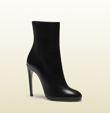 Gucci goldie black leather high heel bootie