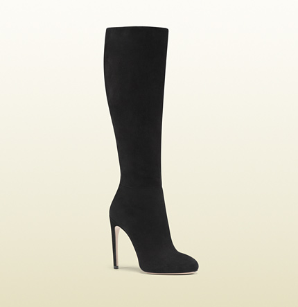 Gucci goldie black suede high heel boot