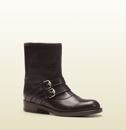 Gucci margarett brown leather boot