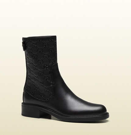 Gucci maud black leather bootie