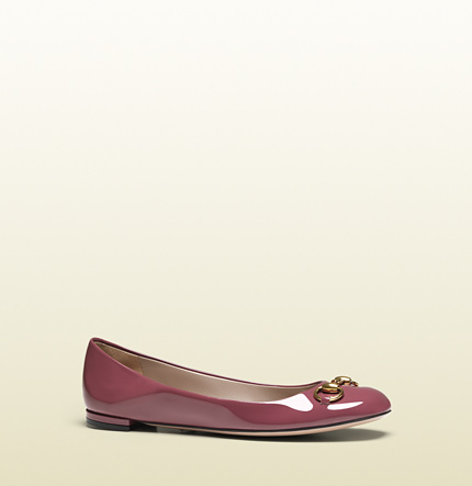 Gucci jolene patent leather ballet flat