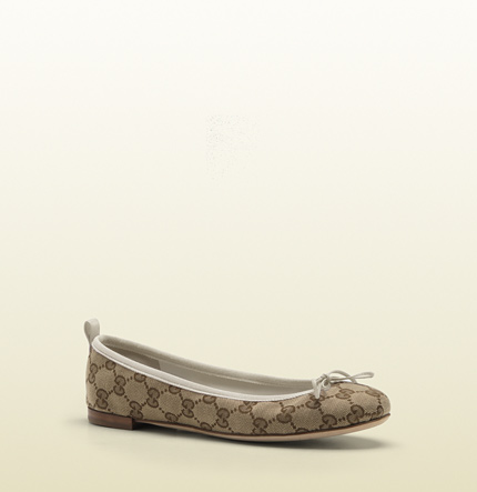 Gucci ali original GG canvas ballet flat