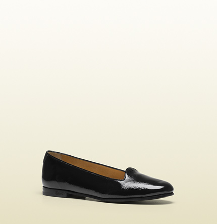 Gucci florence black patent leather loafer
