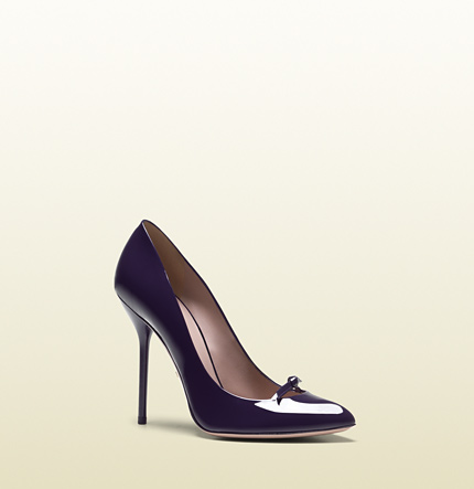 Gucci patent leather high heel pump