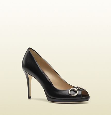 Gucci new hollywood mid-heel platform pump