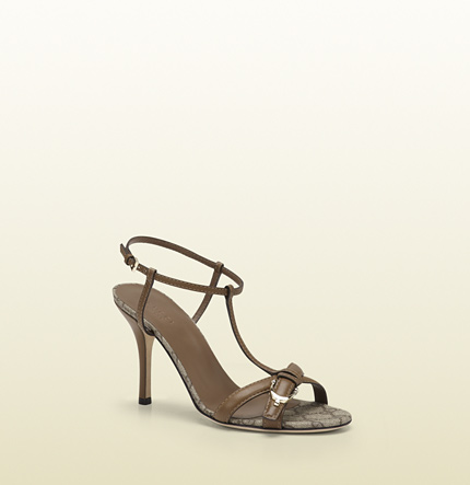 Gucci gucci nice leather mid-heel sandal