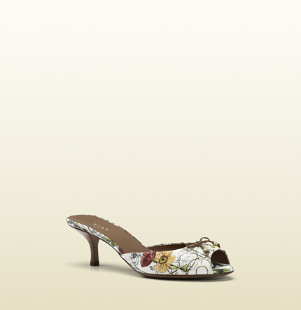 Gucci holiday flora canvas slide sandal