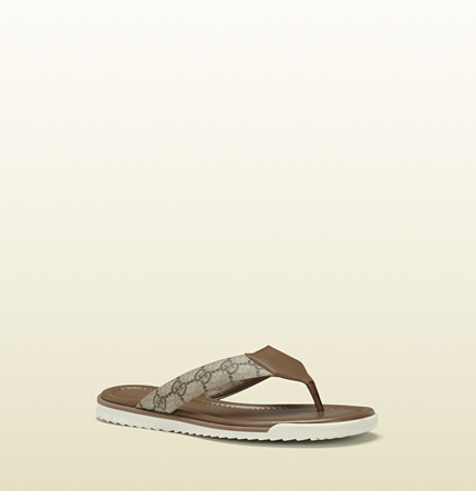 Gucci sl73 beach maple brown leather sandal