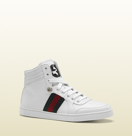 Gucci coda hi-top sneaker with interlocking G and signature web