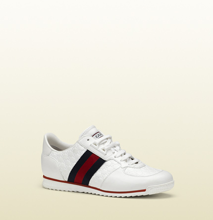Gucci SL37 white lace-up sneaker