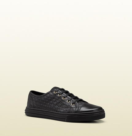 Gucci california low black microguccissima leather low-top sneaker