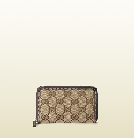 Gucci original GG canvas card case