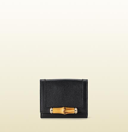 Gucci card case with bamboo detail.