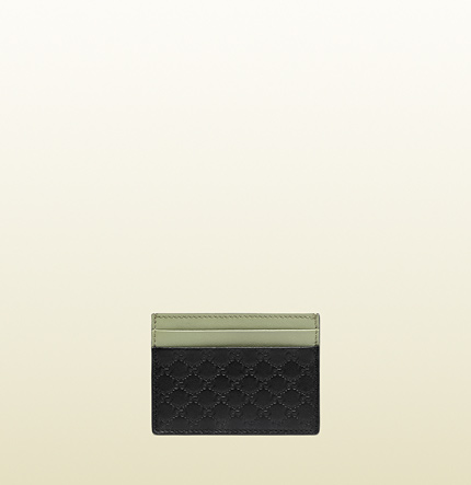 Gucci microguccissima leather multicolor card case